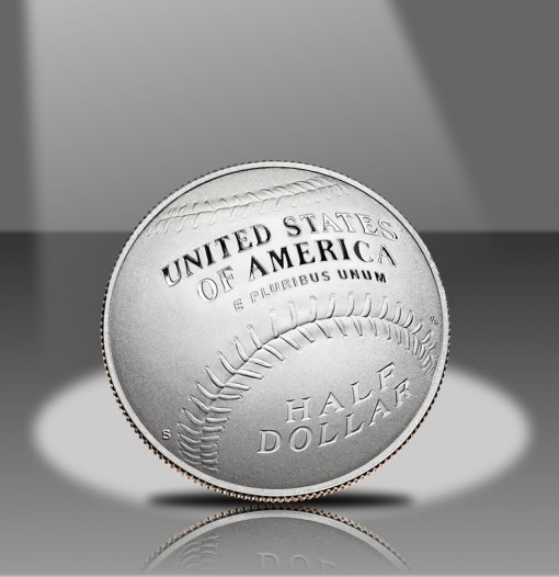 2014-S Proof 50c Clad National Baseball Hall of Fame Commemorative Coin (Reverse)