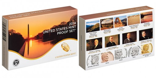 2014 US Mint Proof Set Packaging