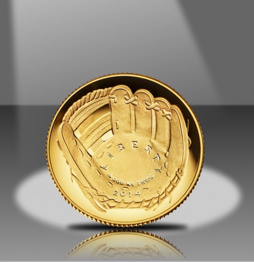 2014-W Proof $5 Gold National Baseball Hall of Fame Commemorative Gold