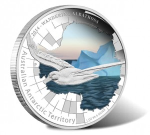 2014 Wandering Albatross 1 oz Silver Proof Coin