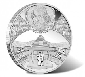 2014 William Shakespeare 5 oz Silver Proof Coin