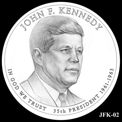 2015 Presidential $1 Coin Design Candidate JFK-02