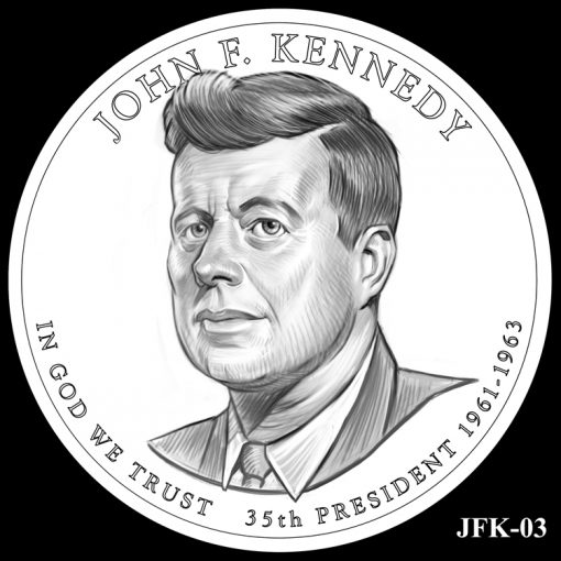 2015 Presidential $1 Coin Design Candidate JFK-03