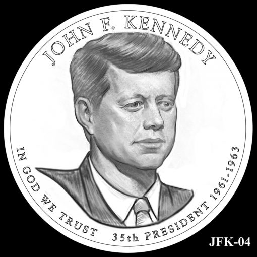 2015 Presidential $1 Coin Design Candidate JFK-04