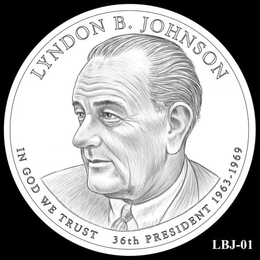 2015 Presidential $1 Coin Design Candidate LBJ-01
