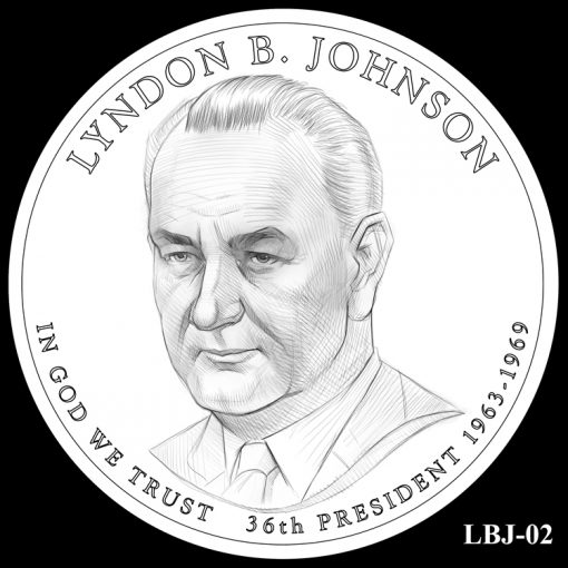 2015 Presidential $1 Coin Design Candidate LBJ-02