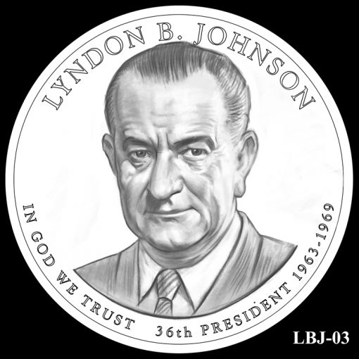 2015 Presidential $1 Coin Design Candidate LBJ-03