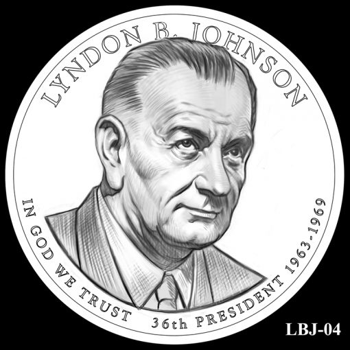 2015 Presidential $1 Coin Design Candidate LBJ-04
