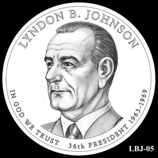2015 Presidential $1 Coin Design Candidate LBJ-05