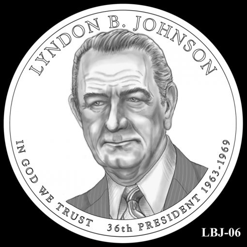2015 Presidential $1 Coin Design Candidate LBJ-06