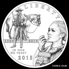 2015 US Marshals Service Commemorative Coin Design Candidate USM-C-O-01