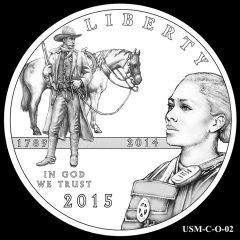 2015 US Marshals Service Commemorative Coin Design Candidate USM-C-O-02