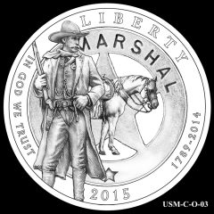 2015 US Marshals Service Commemorative Coin Design Candidate USM-C-O-03