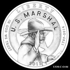 2015 US Marshals Service Commemorative Coin Design Candidate USM-C-O-04