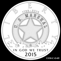 2015 US Marshals Service Commemorative Coin Design Candidate USM-C-O-05