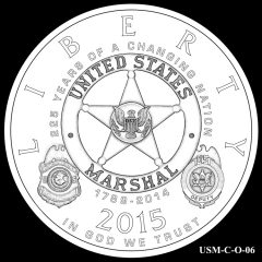 2015 US Marshals Service Commemorative Coin Design Candidate USM-C-O-06