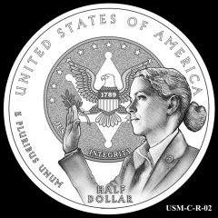 2015 US Marshals Service Commemorative Coin Design Candidate USM-C-R-02