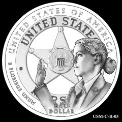 2015 US Marshals Service Commemorative Coin Design Candidate USM-C-R-03
