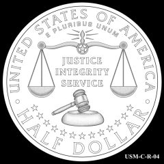 2015 US Marshals Service Commemorative Coin Design Candidate USM-C-R-04