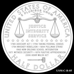 2015 US Marshals Service Commemorative Coin Design Candidate USM-C-R-05