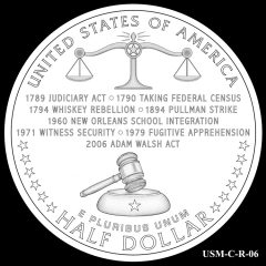 2015 US Marshals Service Commemorative Coin Design Candidate USM-C-R-06