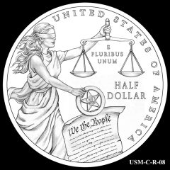 2015 US Marshals Service Commemorative Coin Design Candidate USM-C-R-08