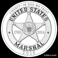 2015 US Marshals Service Commemorative Coin Design Candidate USM-G-O-01