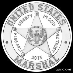 2015 US Marshals Service Commemorative Coin Design Candidate USM-G-O-03