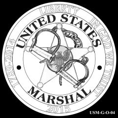 2015 US Marshals Service Commemorative Coin Design Candidate USM-G-O-04