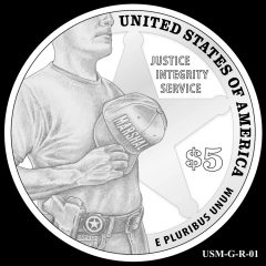 2015 US Marshals Service Commemorative Coin Design Candidate USM-G-R-01