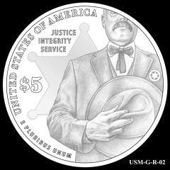 2015 US Marshals Service Commemorative Coin Design Candidate USM-G-R-02