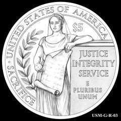 2015 US Marshals Service Commemorative Coin Design Candidate USM-G-R-03