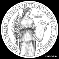 2015 US Marshals Service Commemorative Coin Design Candidate USM-G-R-04