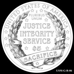2015 US Marshals Service Commemorative Coin Design Candidate USM-G-R-06