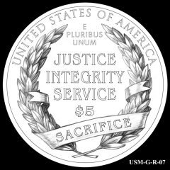 2015 US Marshals Service Commemorative Coin Design Candidate USM-G-R-07