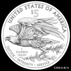 2015 US Marshals Service Commemorative Coin Design Candidate USM-G-R-11