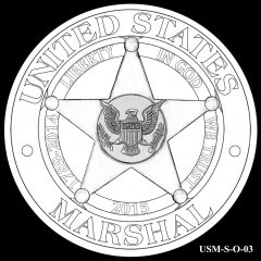 2015 US Marshals Service Commemorative Coin Design Candidate USM-S-O-03