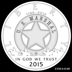 2015 US Marshals Service Commemorative Coin Design Candidate USM-S-O-05
