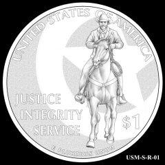 2015 US Marshals Service Commemorative Coin Design Candidate USM-S-R-01