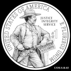 2015 US Marshals Service Commemorative Coin Design Candidate USM-S-R-03