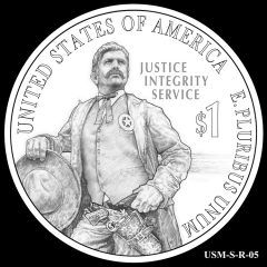 2015 US Marshals Service Commemorative Coin Design Candidate USM-S-R-05