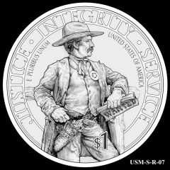 2015 US Marshals Service Commemorative Coin Design Candidate USM-S-R-07