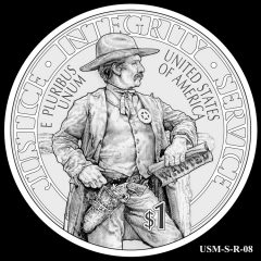 2015 US Marshals Service Commemorative Coin Design Candidate USM-S-R-08