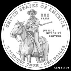 2015 US Marshals Service Commemorative Coin Design Candidate USM-S-R-10