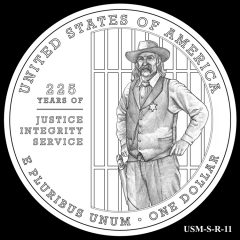 2015 US Marshals Service Commemorative Coin Design Candidate USM-S-R-11