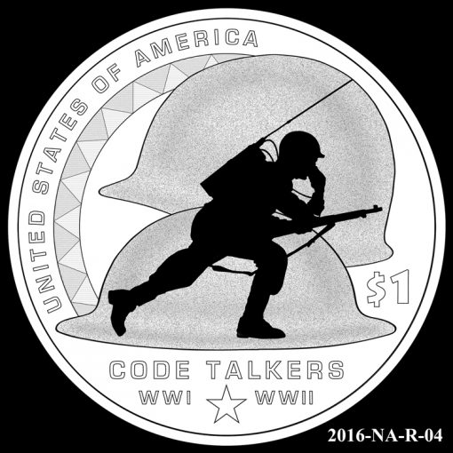2016 Presidential $1 Coin Design Candidate 2016-NA-R-04