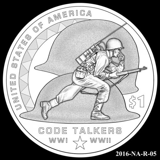 2016 Presidential $1 Coin Design Candidate 2016-NA-R-05