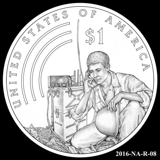 2016 Presidential $1 Coin Design Candidate 2016-NA-R-08