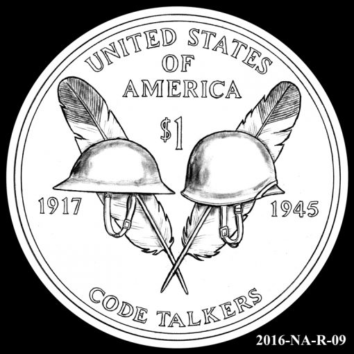 2016 Presidential $1 Coin Design Candidate 2016-NA-R-09