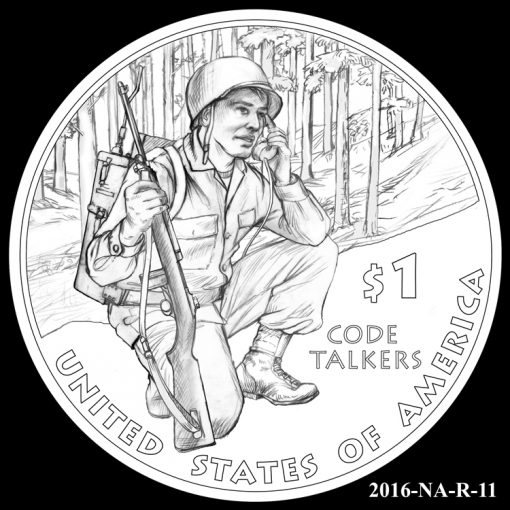 2016 Presidential $1 Coin Design Candidate 2016-NA-R-11